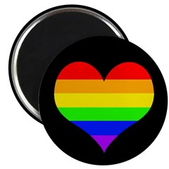 Rainbow Heart Refrigerator Magnet