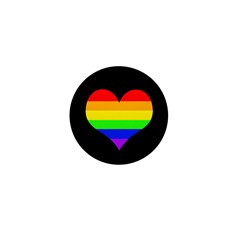 Rainbow Heart Mini Button (10 pack)