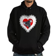 Possum Valentines Day Heart Hoodie
