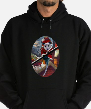 Possum Santa on Rooftop Hoodie (dark)