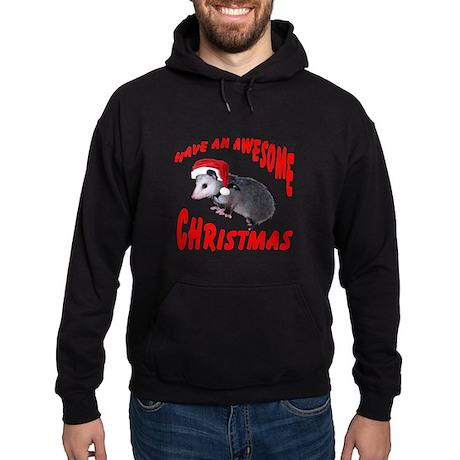 Santa Helper Possum Hoodie (dark)