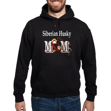Siberian Husky Mom Hoodie (dark)