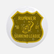 Runner Drinking League Ornament (Round)