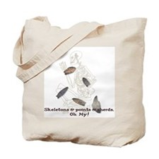 Skeletons, Points, & Sherds Tote Bag