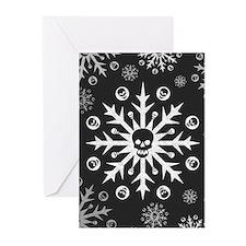 Skullflake (dark) Greeting Cards (Pk of 10)
