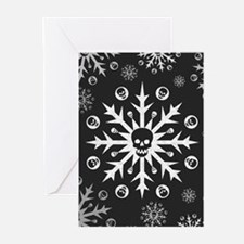 Skullflake (dark) Greeting Cards (Pk of 10)