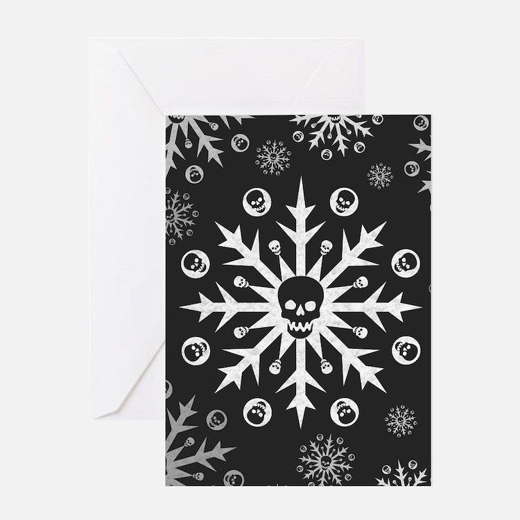 Skullflake (dark) Greeting Card
