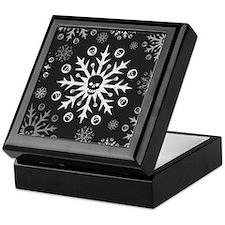 Skullflake (dark) Keepsake Box