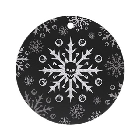 Skullflake (dark) Ornament (Round)