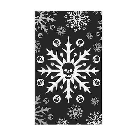 Skullflake (dark) Rectangle Sticker