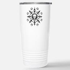 Skullflake (dark) Stainless Steel Travel Mug
