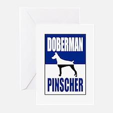 Doberman Pinscher Greeting Cards (Pk of 20)