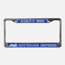 Agility Australian Shepherd License Plate Frame