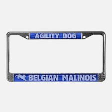 Agility Belgian Malinois License Plate Frame