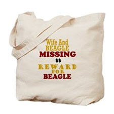 Wife & Beagle Missing Tote Bag