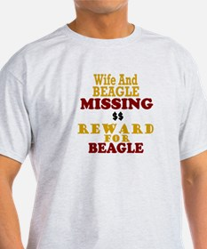 Wife & Beagle Missing T-Shirt