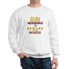 Wife & Beagle Missing Sweatshirt