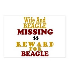 Wife & Beagle Missing Postcards (Package of 8)