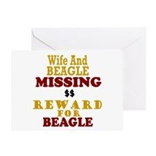 Wife & Beagle Missing Greeting Card