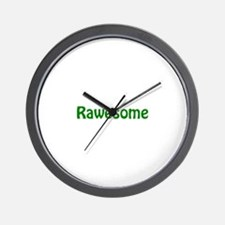 Rawesome Wall Clock