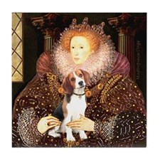 Queen / Beagle (#1) Tile Coaster