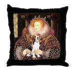 Queen / Beagle (#1) Throw Pillow