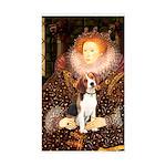 Queen / Beagle (#1) Sticker (Rectangle)