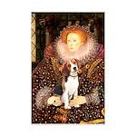 Queen / Beagle (#1) Mini Poster Print