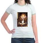 Queen / Beagle (#1) Jr. Ringer T-Shirt