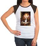 Queen / Beagle (#1) Women's Cap Sleeve T-Shirt