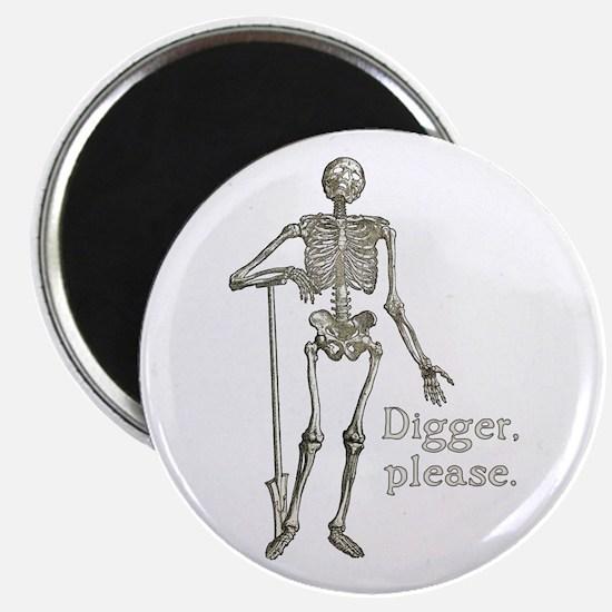 Digger, Please Funny Skeleton Magnet