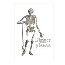 Digger, Please Funny Skeleton Postcards (Package o