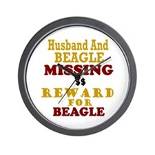 Husband & Beagle Missing Wall Clock