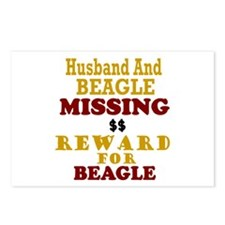 Husband & Beagle Missing Postcards (Package of 8)