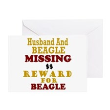 Husband & Beagle Missing Greeting Card