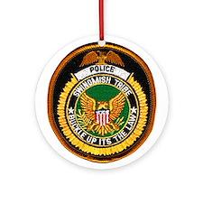 Swinomish Tribe Police Ornament (Round)