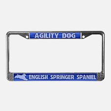 Agility English Springer License Plate Frame