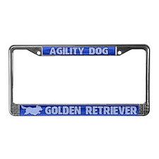 Agility Golden Retriever License Plate Frame