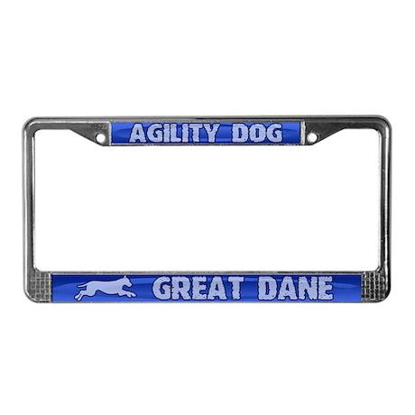 Agility Great Dane License Plate Frame