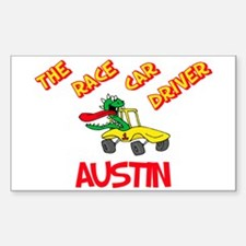Austin Race Car Driver Rectangle Decal