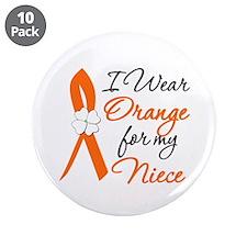 "I Wear Orange For My Niece 3.5"" Button (10 pack)"