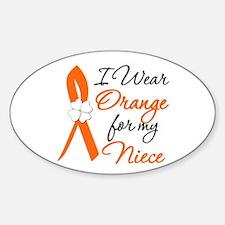 I Wear Orange For My Niece Oval Sticker (10 pk)
