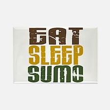 Eat Sleep Sumo Rectangle Magnet