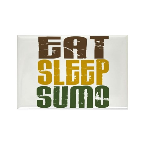 Eat Sleep Sumo Rectangle Magnet (10 pack)