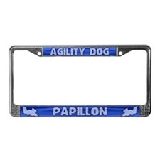 Agility Papillon License Plate Frame