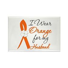 I Wear Orange For My Husband Rectangle Magnet