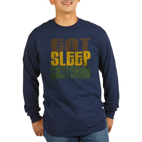 Eat Sleep Shotokan Long Sleeve Dark T-Shirt