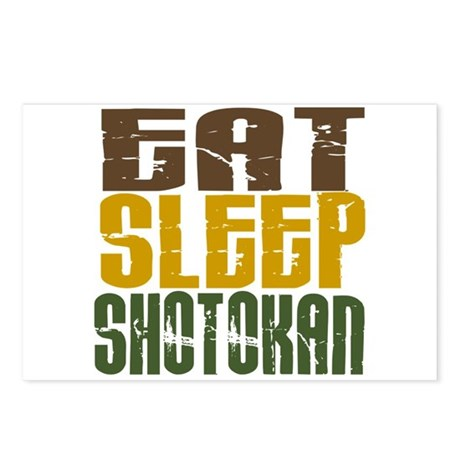 Eat Sleep Shotokan Postcards (Package of 8)