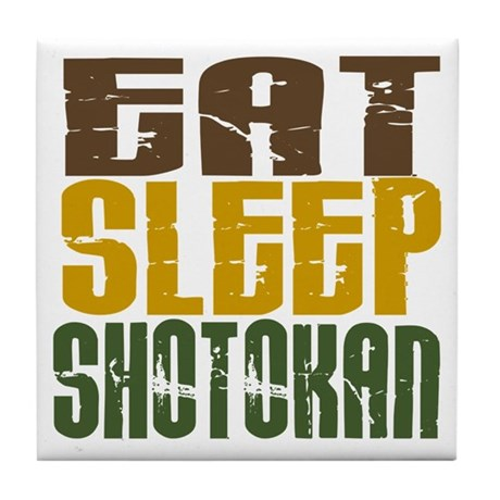 Eat Sleep Shotokan Tile Coaster