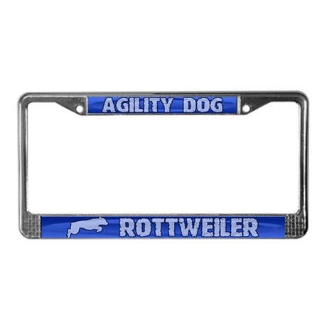 Agility Rottweiler License Plate Frame